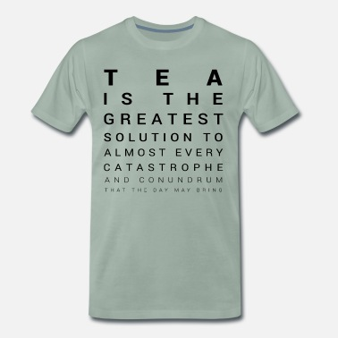 Tea Tea is the solution - Men's Premium T-Shirt