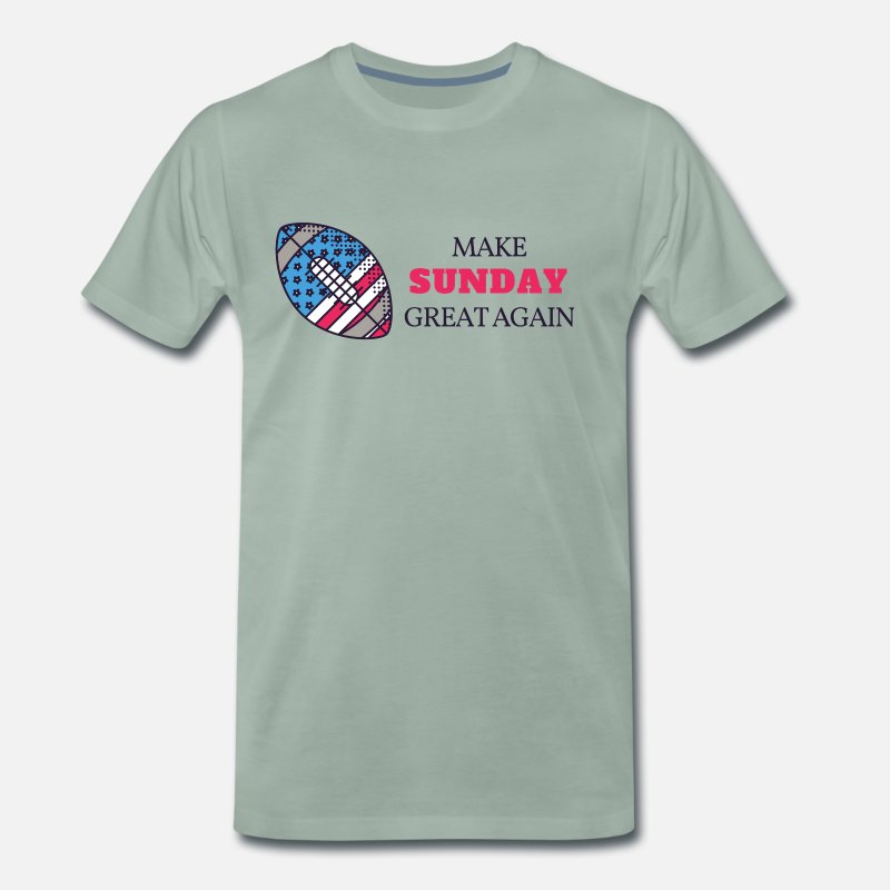 Red T-Shirts - Make Sunday Great Again - RED - Men's Premium T-Shirt steel green