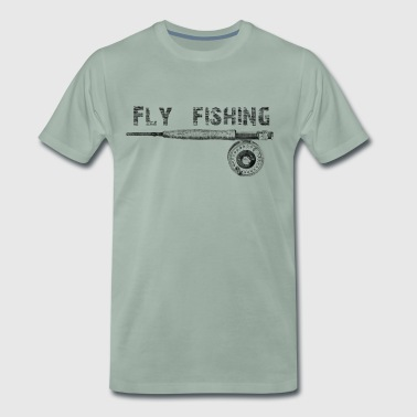 Fly fishing - Premium T-skjorte for menn