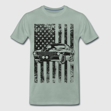 American Flag Muscle Car Toretto Vin Diesel - Men's Premium T-Shirt