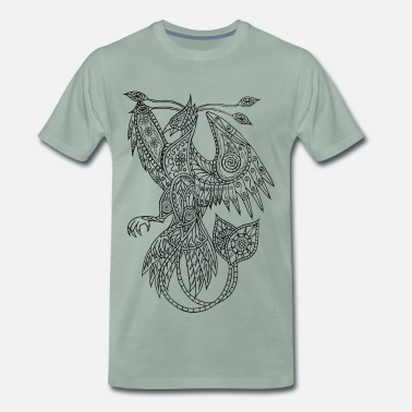 Ausmalen Rise Of The Phoenix - Männer Premium T-Shirt