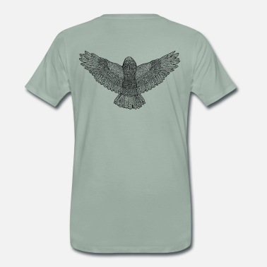 Back In Black Owl Back - Black - Männer Premium T-Shirt