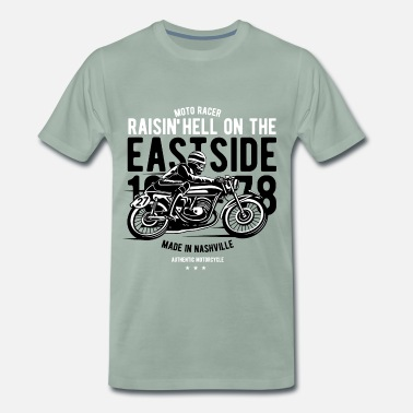 Mc RAISIN HELL - MC og motorsykkel shirt design - Premium T-skjorte for menn