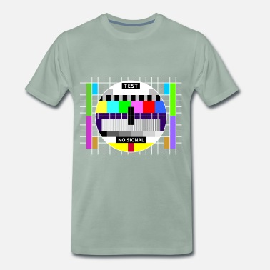 Sendeschluss Testbild Display screen test card signal Big Bang - Männer Premium T-Shirt