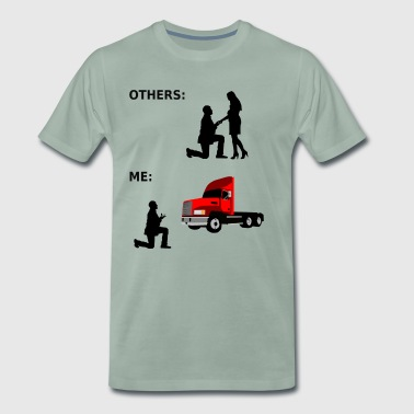 Truck, gift, truck driver, lorry, lorry driver - Men's Premium T-Shirt