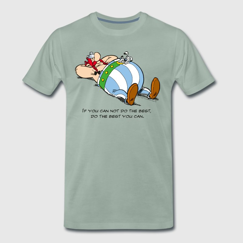 Asterix & Obelix - If You Can Not Do Best - Men's Premium T-Shirt
