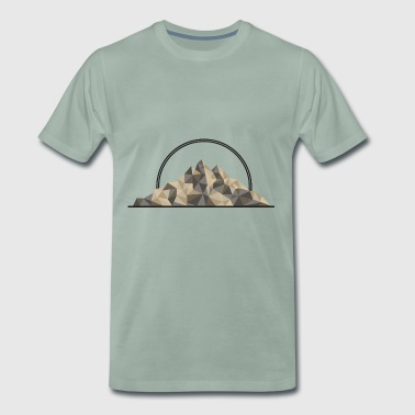 Mountain geometric gift hiking mountaineering mountain - Men's Premium T-Shirt