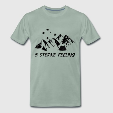 Mountains 5 star feeling - Men's Premium T-Shirt