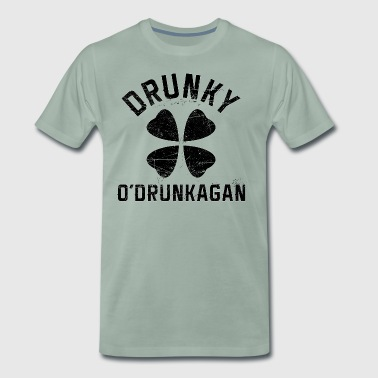 Drunky O'Drunkagan Vintage Black - Men's Premium T-Shirt