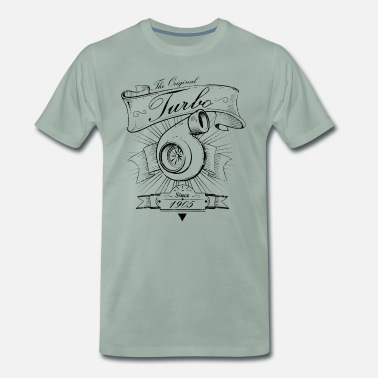 1905 turbo sedan 1905 vintage - black edition - Premium-T-shirt herr