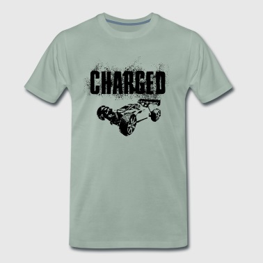 Bil RC Car Racing På Off-Roader CHARGED BLACK - Premium-T-shirt herr