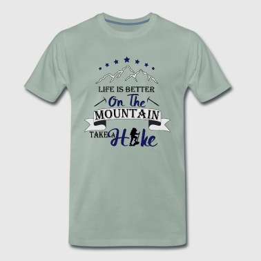 Better to live in the mountains Wander shirt - Men's Premium T-Shirt