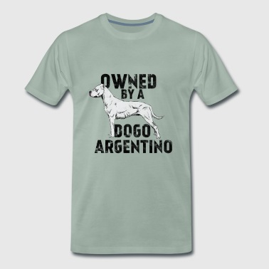 Dogs - Owned by a dogo argentino - Männer Premium T-Shirt