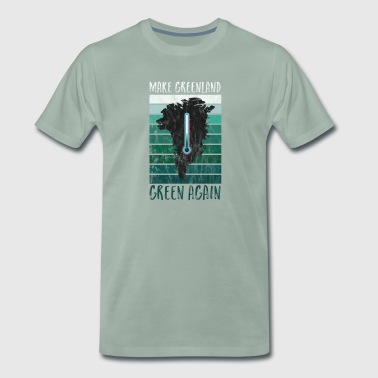 Regalo Greenland Climate Change Climate CO2 Temperature - Camiseta premium hombre