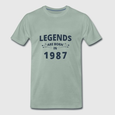 Legends Shirt - Legends are born in 1987 - Men's Premium T-Shirt