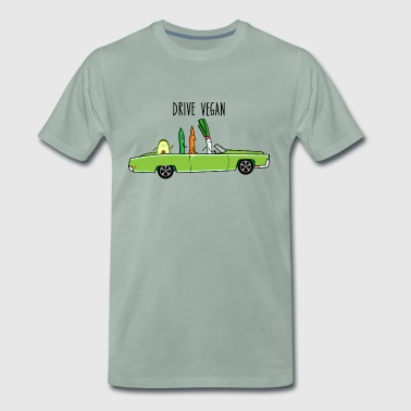 Drive vegan (b) - Men's Premium T-Shirt