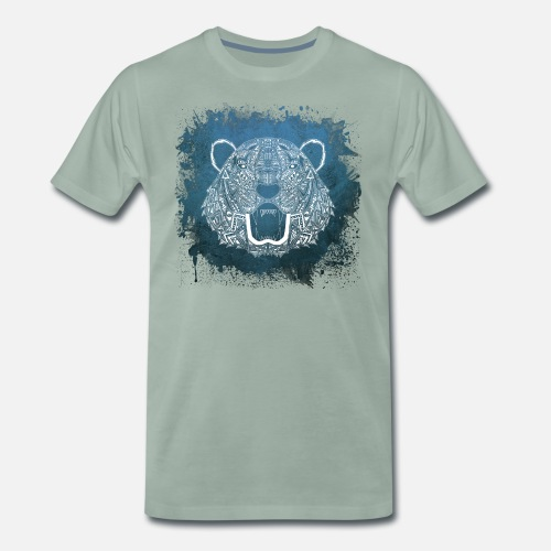 Tiger Tier Mandala Männer Premium T Shirt Spreadshirt