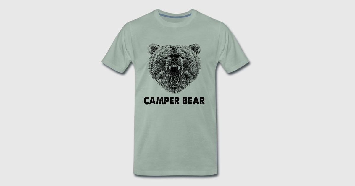 Cooler wilder Grizzly-Camper-Bär Lustige Geschenke. Camping von ...
