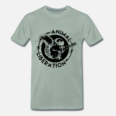 Animal Liberation Animal Liberation Squirrel - Men's Premium T-Shirt