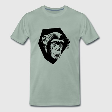 Monkey-CutOut | black | - Männer Premium T-Shirt