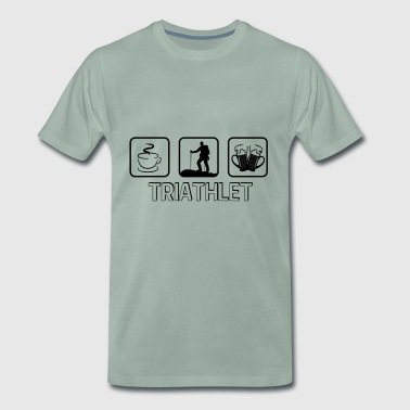Triathlete mountain hiking - Men's Premium T-Shirt