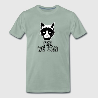Yes we can / katze - Männer Premium T-Shirt