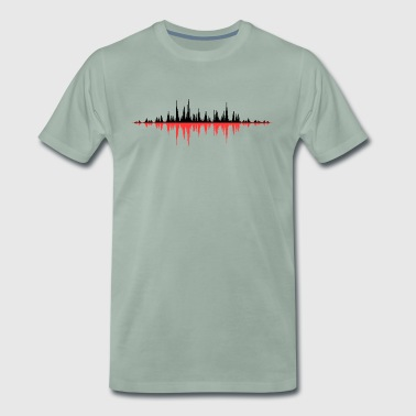Rouge Onde sonore - T-shirt Premium Homme