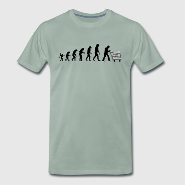 Evolution of man who buys - T-shirt Premium Homme