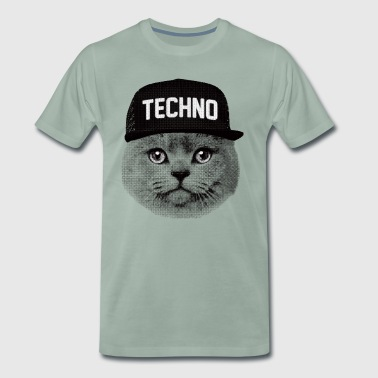 Techno cat - Men's Premium T-Shirt