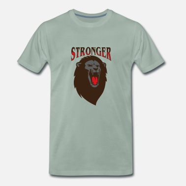 Stronger Lion Roar Stronger T-shirt I Fitness - Mannen Premium T-shirt
