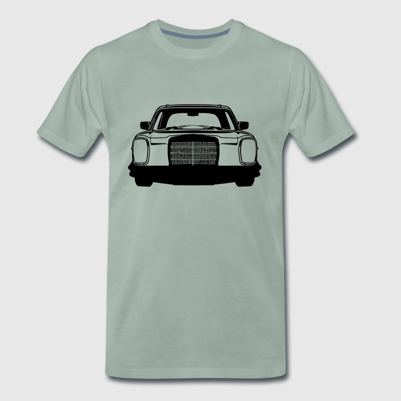 Benz W114 W115 Striped Silhouette T-Shirt Motif - Men's Premium T-Shirt