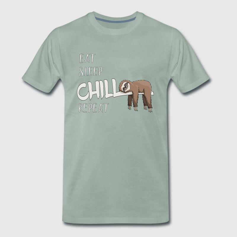 Eat Sleep Chill Repeat Sloth chilling gift - Men's Premium T-Shirt