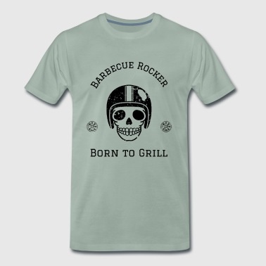 Barbecue motorcycle rocker with helmet - Men's Premium T-Shirt