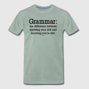 Grammar - Men's Premium T-Shirt