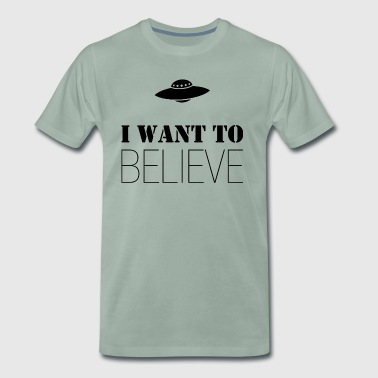 I Want To Believe - Mannen Premium T-shirt
