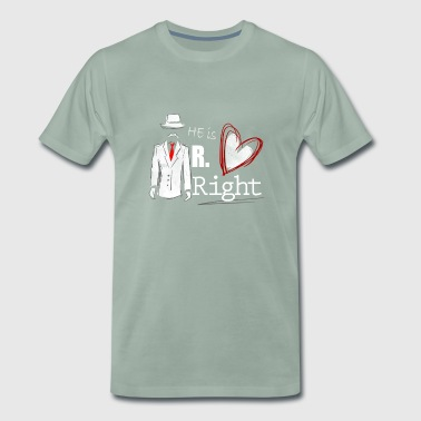 Mr. Right - Partnerlook Shirt 001 - Männer Premium T-Shirt