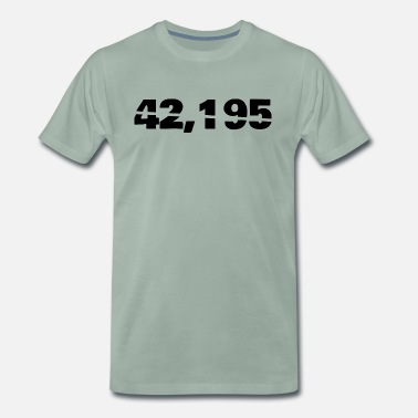 42.195 Marathon - 42.195 - Men's Premium T-Shirt