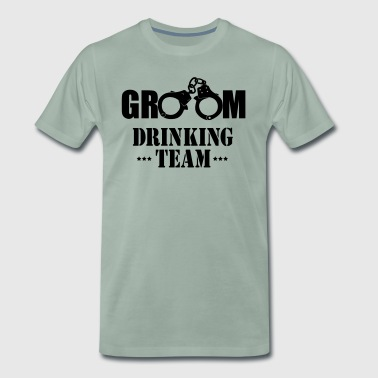 GROOM drinking team vrijgezellen party - Mannen Premium T-shirt