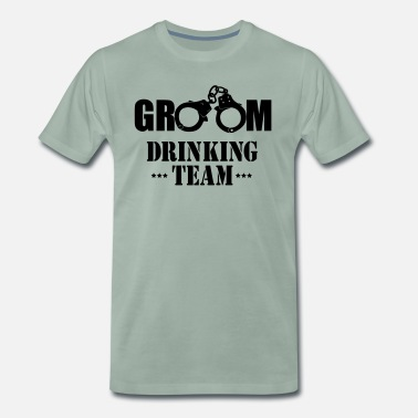 Vrijgezellen Team GROOM drinking team vrijgezellen party - Mannen Premium T-shirt