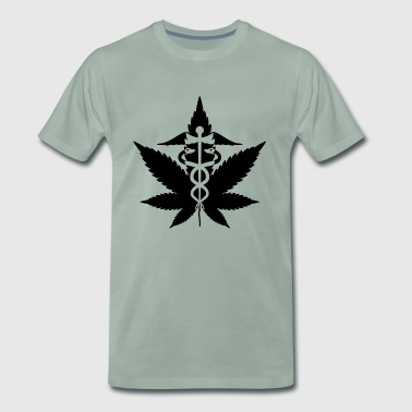 Tribe Cannabis Leaf Black Cannabis Gift Idea Dope - Men's Premium T-Shirt