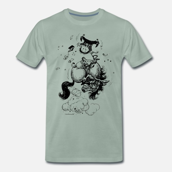 Norman T-Shirts - Thelwell 'Rodeo' - Men's Premium T-Shirt steel green