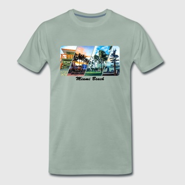 Miami Beach - Premium-T-shirt herr