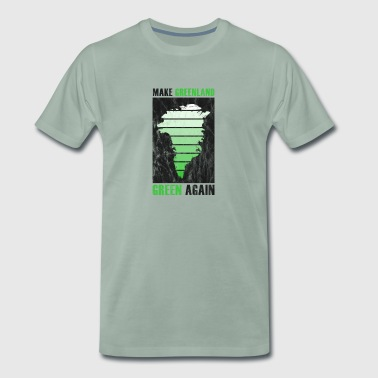 Say Greenland Party Climate Protection Climate Change CO2 - Men's Premium T-Shirt