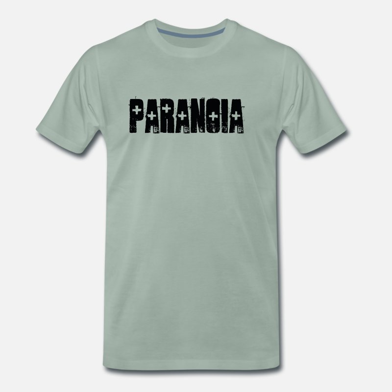 Paradox T-Shirts - PARANOIA 2 - Men's Premium T-Shirt steel green