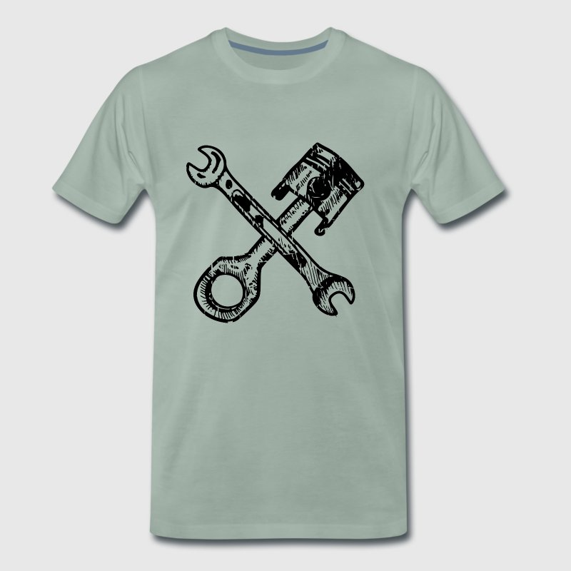 Tuning pistons with crossed wrenches - Men's Premium T-Shirt