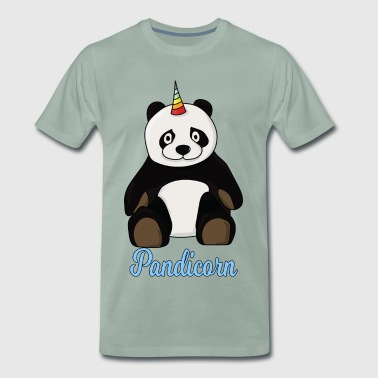 Panda Pandicorn unicorn unicorn glitter birthday - Men's Premium T-Shirt