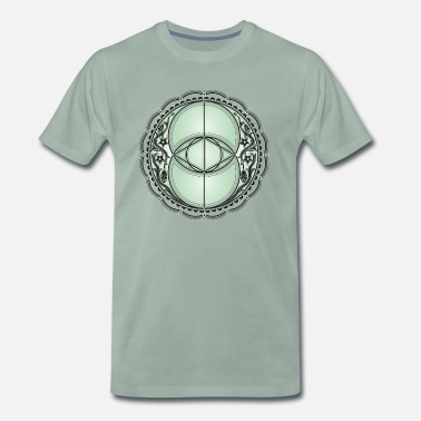 Vesica Piscis Vesica Piscis, Chalice Well, Avalon, magic, celtic - Men's Premium T-Shirt