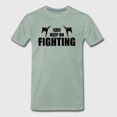 Keep On Fighting UK - Mannen Premium T-shirt