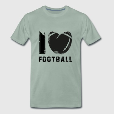 American football black used look gift - Men's Premium T-Shirt