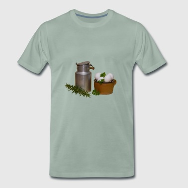 Milk jug and eggs - Men's Premium T-Shirt